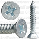 "#8 X 1"" Phillips Flat Head Tapping Screw Zinc"