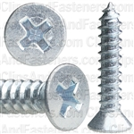 "#10 X 1"" Phillips Flat Head Tap Screw Zinc"
