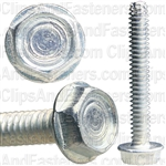 6-32 X 1 Hex Washer Head Thread Cutting Screws Zinc