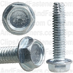 8-32 X 3/4 Hex Washer Head Thread Cutting Screws Zinc