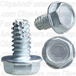 10-24 X 3/8 Hex Washer Head Thread Cutting Screws Zinc