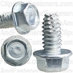 1/4-20 X 1/2 Hex Washer Head Thread Cutting Screws Zinc