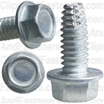 1/4-20 X 5/8 Hex Washer Head Thread Cutting Screws Zinc