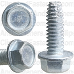 1/4-20 X 3/4 Hex Washer Head Thread Cutting Screws Zinc