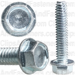 1/4-20 X 1-1/4 Hex Washer Head Thread Cutting Screws Zinc
