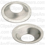 #6 Flush Brass Finishing Washer Nickel