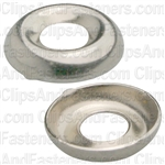 #6 Ctsk Brass Finishing Washer Nickel