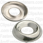 #8 Ctsk Brass Finishing Washer Nickel