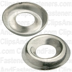 #12 Ctsk Brass Finishing Washer Nickel