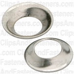 #8 Flush Brass Finishing Washer Nickel