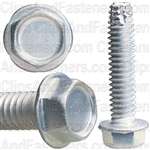 12-24 X 1 Hex Washer Head Thread Cutting Screws Zinc