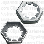 Hex Lock Nut 1/2-20 3/4 Hex Zinc