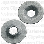 "1/8"" Stud Flat Push-On Retainer 3/8"" O.D."