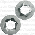 "3/8"" Pushnut Bolt Retainer 25/32"" O.D. Zinc"
