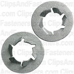 "7/16"" Pushnut Bolt Retainer 27/32"" O.D. Zinc"