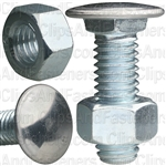 "7/16""-14 X 1-3/8"" Stainless Capped Bumper Bolts W/Nuts"