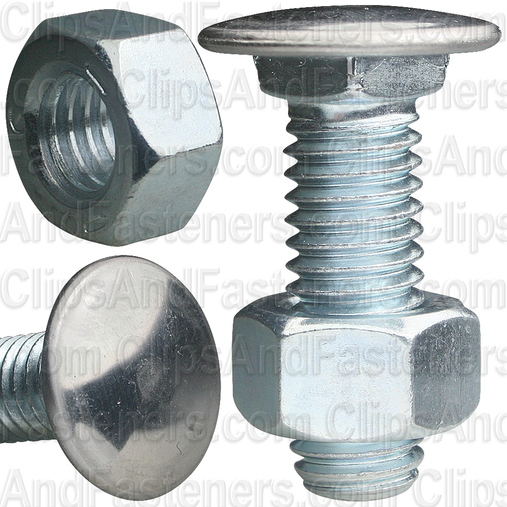 25 7//16-14 x 1-3//8 Stainless Capped Bumper Bolts W//Nuts
