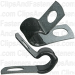 Closed Clamp 1/4 Small- Galvanized Vinyl Coated