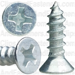 6 X 1/2 Phil Flat Hd Wood Screw Zinc