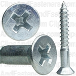 8 X 1 1/4 Phil Flat Hd Wood Screw Zinc