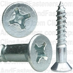 14 X 1 1/2 Phil Flat Hd Wood Screw Zinc