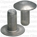 3/16 Brazier Head Solid Aluminum Rivet 3/8 Length (100)