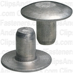 1/4 Brazier Head Solid Aluminum Rivet 3/8 Length (100)