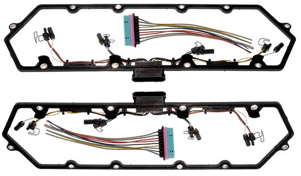 Cover Gasket w/Fuel Injector Glow Plug Harness