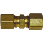 "(1) 1/4"" Solderless Compression Union Brass Fitting"