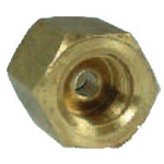 "5 Heavy Wall Brass Line Union 3/16"" x 3/8"" x 24"" per Thread Invert Flare"