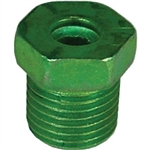 "5 Oversized Steel Tube Nut 3/16"" x 1/2"" x 20 TPI Green"