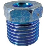 "5 Oversized Steel Tube Nut 1/4"" x 9/16"" x 18 TPI Blue"