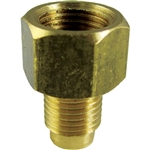 "1 Brass Brake Line Adapter 1/4"" x 3/16"" x 3/8"" x 24 TPI"
