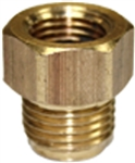 "Brake Line Adaptor 3/16"" Tube (9/16"" x 18"" Thread) Female To 3/16"" Tube (1/2"" x 20"" Thread) Male"