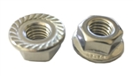 M 8 - 1.25 Hex Flange Nut with Serrations A2 Stainless