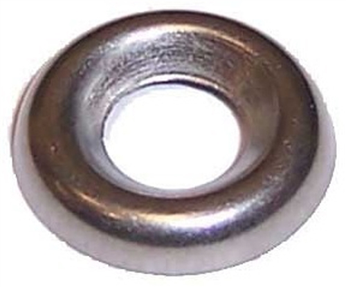 144#8 Flush Finishing Washers Nickel Plated Brass