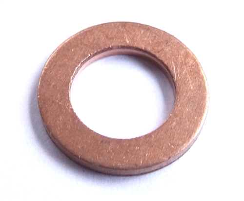 1 O.D. Clipsandfasteners Inc 25 Copper Oil Drain Plug Gaskets 3//4 I.D