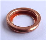 Copper Crush Washer 11mm I.D. 17.5mm O.D. 3mm Thick