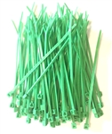 "100 4"" Green Nylon Wire Cable Ties 18 Lbs"