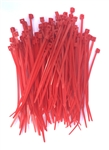 "100 4"" Red Nylon Wire Cable Ties 18 Lbs"