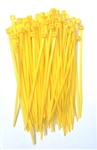 "100 4"" Yellow Nylon Wire Cable Ties 18 Lbs"