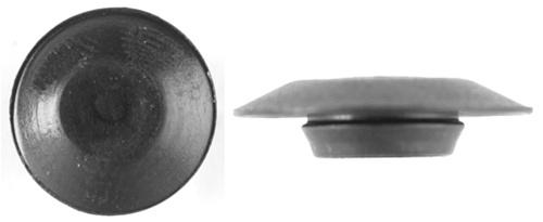 Plastic flush type hole plugs