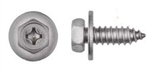Stainless Steel Phillips Hex Head License Plate Screws