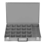 "21 Hole Large Gray Plastic Tray 18 1/4"" X 12 1/4"""