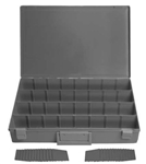 "32 Hole Adjustable Large Gray Plastic Tray 18 1/4"" X 12 1/4"""