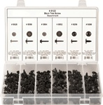 210 Pc Hex & Phillips Drive Black Trim Screw Assortment