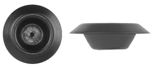 1 2 Black Plastic Depressed Center Hole Plugs