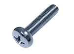 25 M 6-1.0 x 10 Small Head Philips Pan Machine Screw, Steel Zinc. JIS B 1111