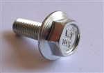M 4 - 0.7 x 12mm JIS Hex Head Flange Bolt - Small Head, Class 10.9 Zinc. JIS B 1189