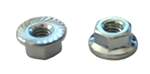 M 3 - .5 JIS Hex Flange Nut, Class 8 with Serrations, Zinc